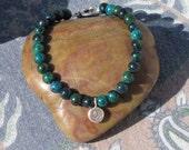 Australian jasper lotus bracelet