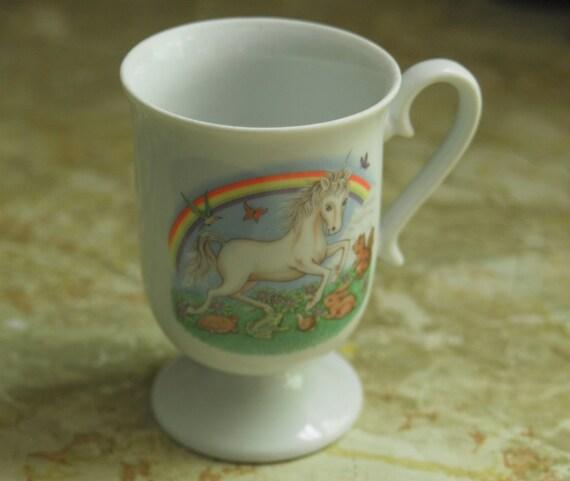 Vintage 80's Unicorn & Friends Mug