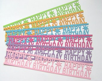 Happy Birthday Strips- scrap booking - card making - embellishment (6)