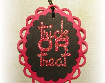 Trick or Treat Decorative Tags (4)
