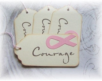 COURAGE Breast Cancer Awareness Tags (4)