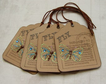 Fly Butterfly Tags (4)