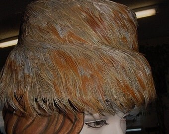 Feather Covered Hat - free US shipping