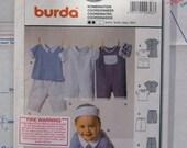 Baby top, pants and overalls Burda pattern 9803
