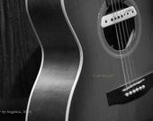 5x7 Black and White Guitar Musical Instrument Music Art Photography by Angelica