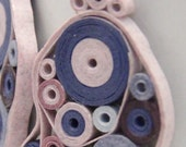 Pink and Blue Retro Circles Paper Quilled Earrings