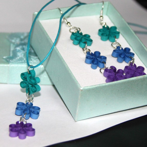 cij save 30  clearance sale flower chain earring and necklace