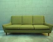Reduced- Mid Century Danish Style Green Sofa