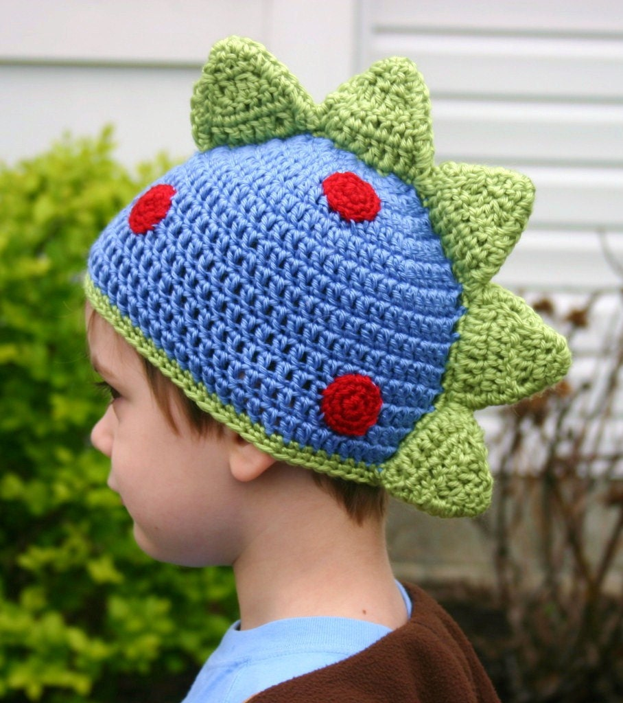 Baby Boy Dinosaur Crochet Hat Animal Shaped Photo Prop Studio Outfit Blue Rar...