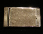 Vintage Powder Compact Cigarette Case 1930's Compact Purse Mirror Compact Snake Skin Style Compact