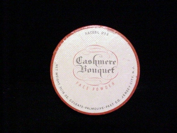 Vintage Powder Box, Cashmere Bouguet Face Powder, SEALED, SALE PRICE