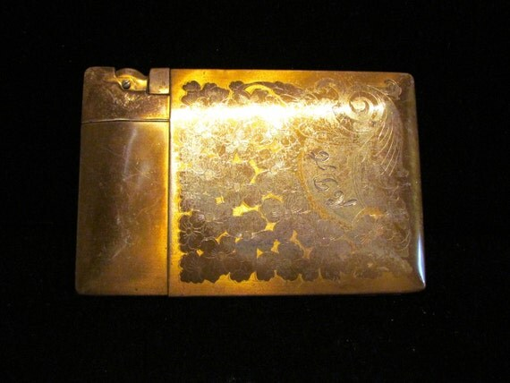 Vintage Elgin American Magic Action Lite O Matic Gold Tone Lighter And Cigarette Case SALE PRICE
