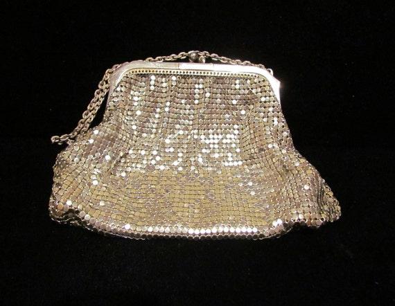 Vintage Purse Mesh Purse Whiting And Davis Purse Wedding Bag 1930s Silver Mesh Purse Evening Bag Bridal Purse