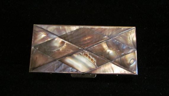 1950's Cigarette Case Vintage Abalone Shell Cigarette Case Ladies Case Trinket Box