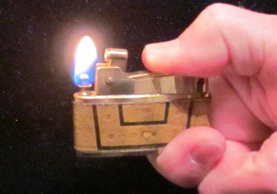 1950s Lighter Pocket Lighter Vintage Lighter Leather Lighter Mid Century Lighter Table Lighter Working Lighter