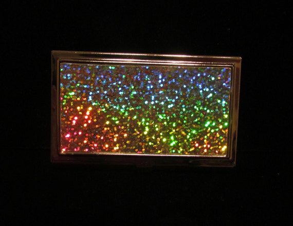 Business Card Holder Holographic Case Card Case Business Card Case OOAK Card Case