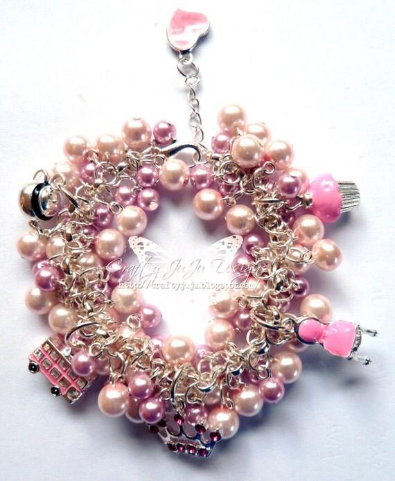 The Great British Very Girly Charm Bracelet