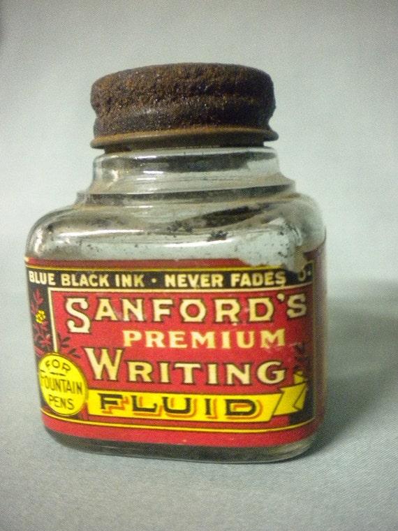 sanford 39 s premium writing fluid for fountain pens blue. Black Bedroom Furniture Sets. Home Design Ideas