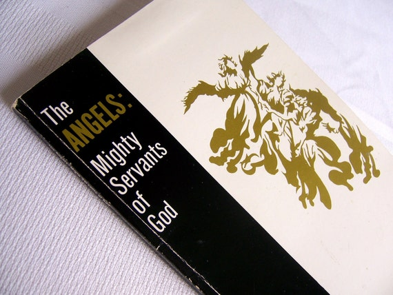Black, white and gold vintage book, The Angels: Mighty Servants of God by Richard E. Warnke, Wisconsin Evangelical Lutheran Synod