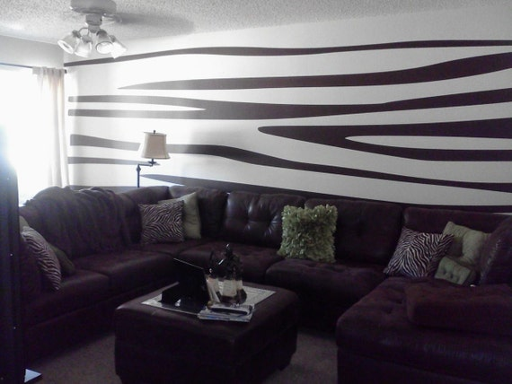 Zebra Stripes Wall Decor : Zebra print wall decals large pkg