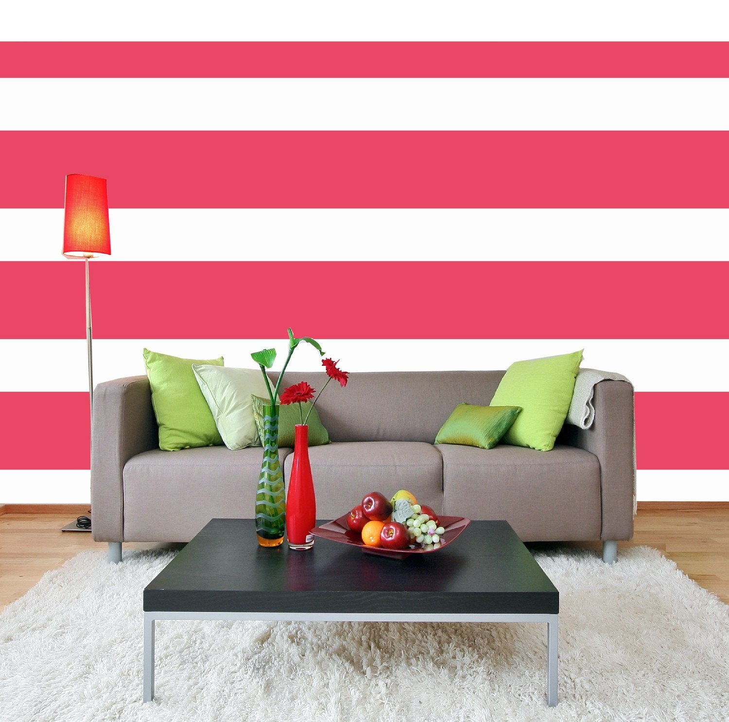 Striped Wall Decals - Wall Decals 2017