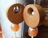 SALE Recession Reduction Prices -  Imagine Wine Cork Earrings