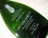 Wedding Invitation Engraved on Flattened  Bottle Tray - Personalized