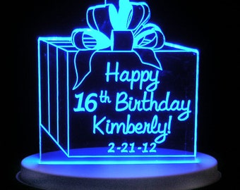 Happy BirthdayII Cake or Table Topper - Light EXTRA