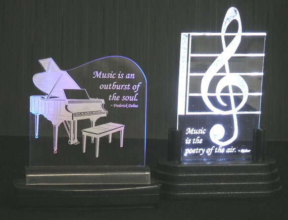 Personalized Music  Acrylic Award / Gift - Lighted