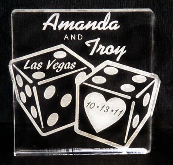 Custom dice wedding