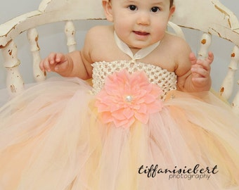 Baby Tutu, Birthday Tutu- Flower Girl Tutu Dress- Infant Tutu- Tutu Dress- Pink Lemonade Tutu Dress- Please only order if you are Aneuhart