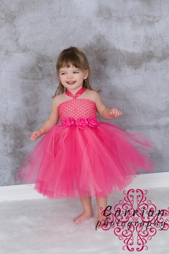 Pink Tutu Dress Tutu Dress Toddler Tutu Baby Tutu Flower