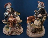 0072   REDUCED to 199.75 - Vintage Capodimonte Old Man On A Bench (U.S. ONLY)