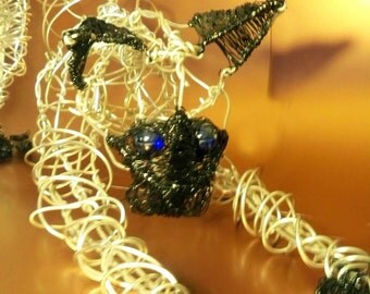 Life Size Abstract Wire Cat Sculpture MADE TO ORDER