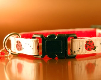 Lady Bug / Lady Bird Breakaway Cat Collar