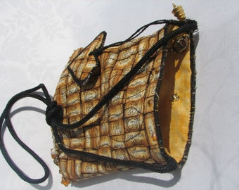 Handmade Bag, Brown Wine Corks, OOAK - SALE