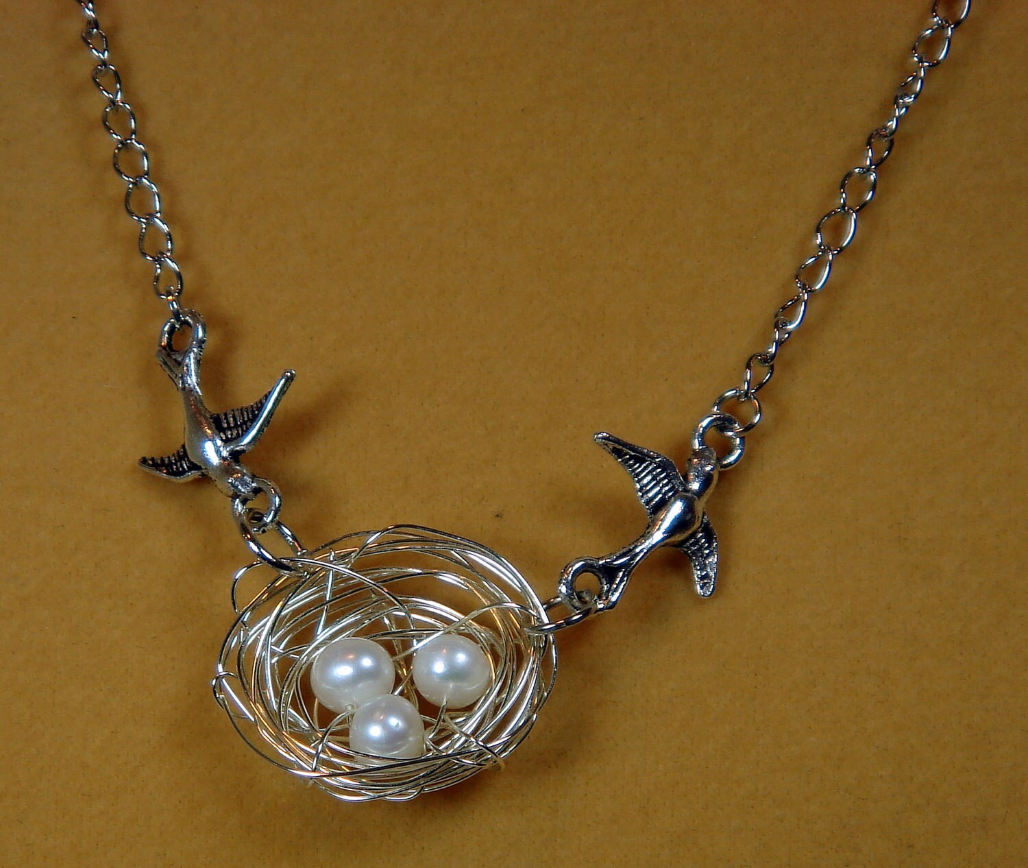 nest necklace pearlsswallows in the nest necklace freshwater