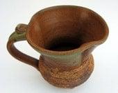 Green and Brown Ribbed Mug