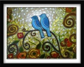 """Art Glossy Print  8x10 Of my painting """"Peaceful"""""""