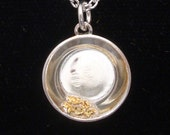 Goldpan Pendant - Sterling Silver and Alaskan Natural Gold Nuggets