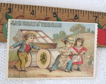 Coats and Clark  Trade Cards Set of 20- Vintage Note Cards - Sewing Trade Cards-
