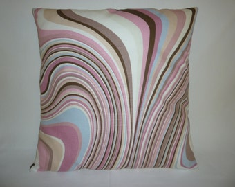 "Cyber Monday Sale ,  Pink Cushion Pillow Cover Brown Cream Designer Pillowcase Sham Slip ONE 16"" (40cm)"