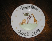 Animal Birthday Plate