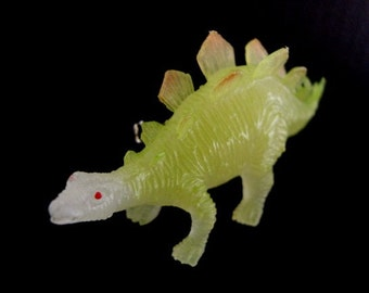 Stegosaurus Dinosaur Brooch Pin- Glow in the dark pin