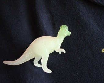 Corythosaurus Dinosaur Brooch Pin - Glow in the dark - Helmet head Dinosaur