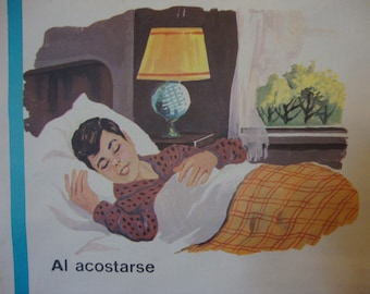 La Postura Correcta - Vintage Correct Posture Spanish Educational Classroom Poster
