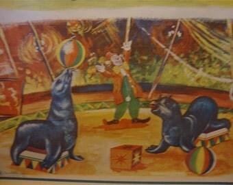 El Circo - Vintage Circus Spanish Educational Classroom Poster
