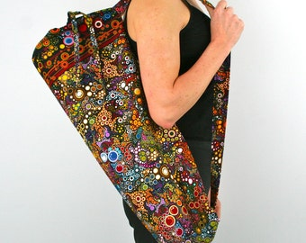 Yoga Bag in Amelia Caruso Effervescence on Black