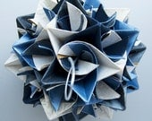 Origami Paper Star Ball: Frosty Blue Mix
