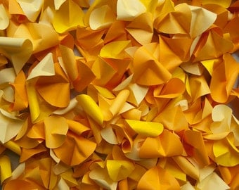 Yellow Paper Rose Petals Fall Petals